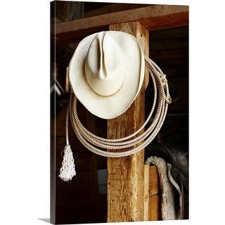 Shop For Cowboy Hat Hanging In Barn With Rope Canvas Wall Art Get Free Delivery On Everything At Overstock Your Online Art Gallery Store Get 5 In Rewards With Club O 16443737