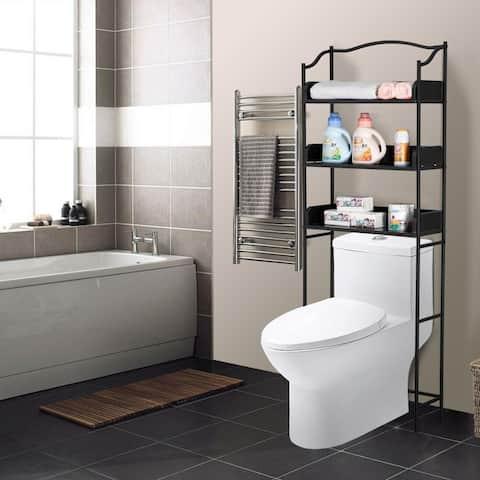3-Tier Over-The-Toilet Bathroom Shelf,Black