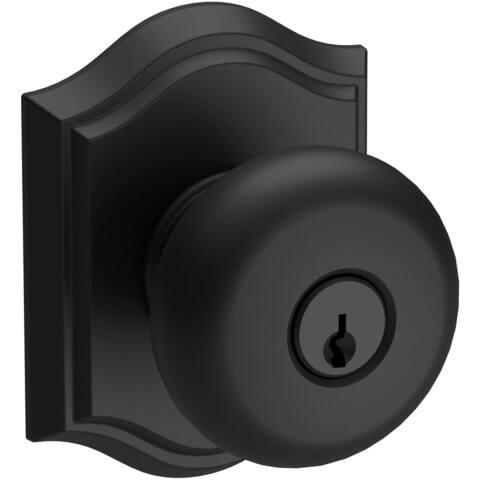Baldwin EN.ROU.TAR Round Keyed Entry Single Cylinder Knobset with