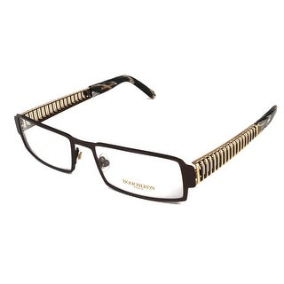Boucheron Unisex Semi-Rectangle Full-Rimmed Eyeglasses Black/Gold - Black - S