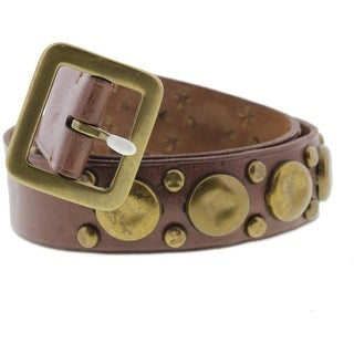 Polo Ralph Lauren Mens Leather Studded Casual Belt