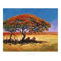 ''African Shade'' by Jonathan Sanders Prime Arts Art Print (15.7 x 19.7 in.)