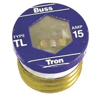 Bussmann BP/TL-15 Time Delay Plug Fuse, 15 Amp, 125 Volt
