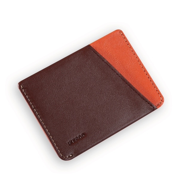 Ikepod Micro Slim Card Wallet (Java of 4 Color) [Italy Made//Top Leather] - Brown