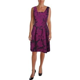 Lauren Ralph Lauren Womens Sleeveless Jacquard Wear to Work Dress
