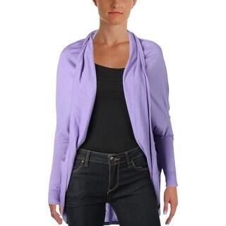 Lauren Ralph Lauren Womens Cassis Cardigan Sweater Silk Blend Open Collar - o/s