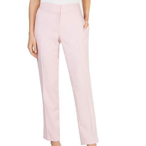 Kasper Women's Dress Pants Soft Pink Size 14X31 Slim Ankle Stretch