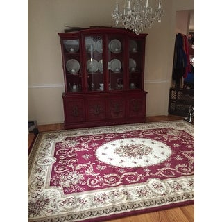 Florence Traditional Floral Area Rug - 7'10 x 10'10