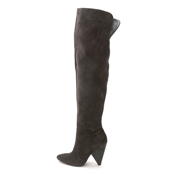 Vince Camuto Womens HOLLIE Leather Pointed Toe Over Knee Fashion Boots