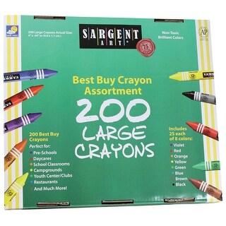 Sargent Art Crayon Set, Large, Assorted Colors, Set of 200