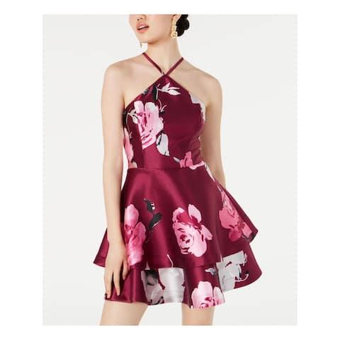 SPEECHLESS Pink Sleeveless Mini Fit + Flare Dress Size 0