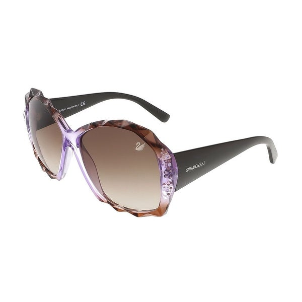 Swarovski SK0040/S 50Z Shaded Brown/Violet/Peach Oversized sunglasses - shaded brown/violet/peach