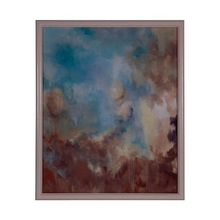 GuildMaster 163049 64 Inch x 52 Inch Clouds Framed Hand-Painted Art on Canvas - N/A