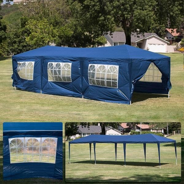 Shop Belleze 10 X 30 Foot Blue Outdoor Wedding Canopy