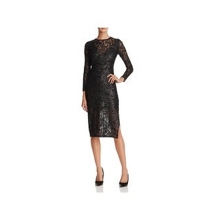 Laundry by Shelli Segal Womens Cocktail Dress Lace Midi