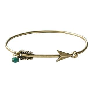 Legendary Whitetails Women's Heritage Lone Arrow Bangle Bracelet - Antique Brass