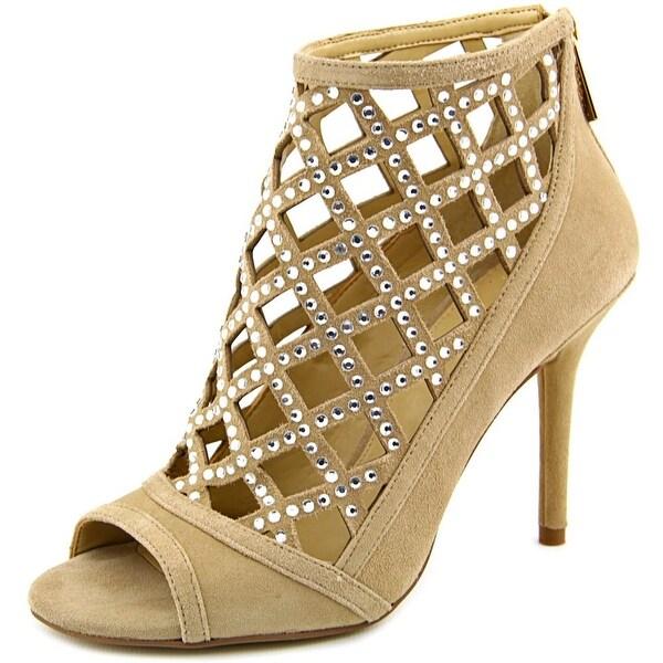 Michael Michael Kors Yvonne Open Toe Bootie Suede Sandals