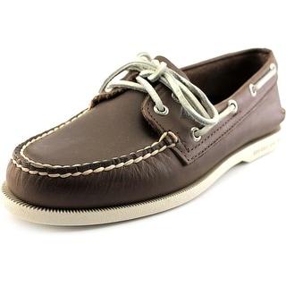 Sperry Top Sider A/O 2-Eye Serape Men Moc Toe Leather Boat Shoe