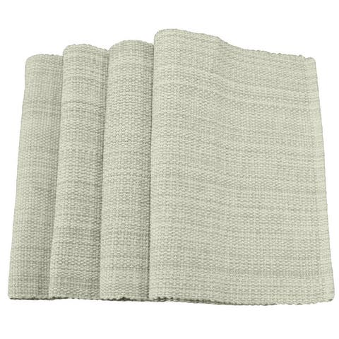 "Fabstyles Casual Classic Set of 4 Thick Cotton Heavyweight Placemats - 13""x19"""