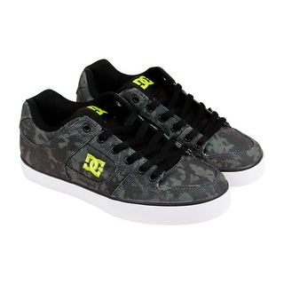 DC Pure SP Mens Black Textile Lace Up Sneakers Shoes
