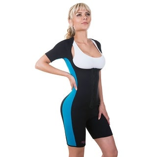 Neo Sweat Sauna Suit With Sleeves Neoprene Body Shapers Exercise Gym Weight Loss Sports Aerobics Yoga Workouts 304BB