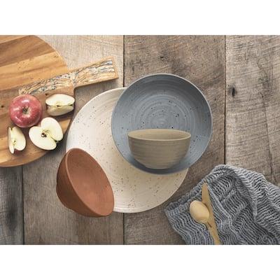 Sango Siterra Painter's Palette 16-Piece Stoneware Dinnerware Set