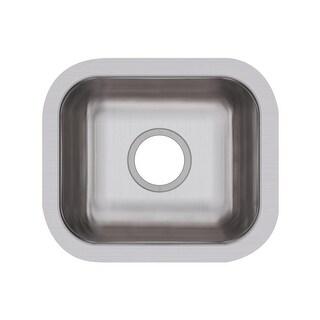 "Elkay DXUH1210  Dayton Stainless Steel 14-1/2"" Single Bowl Undermount Sink - Stainless Steel"