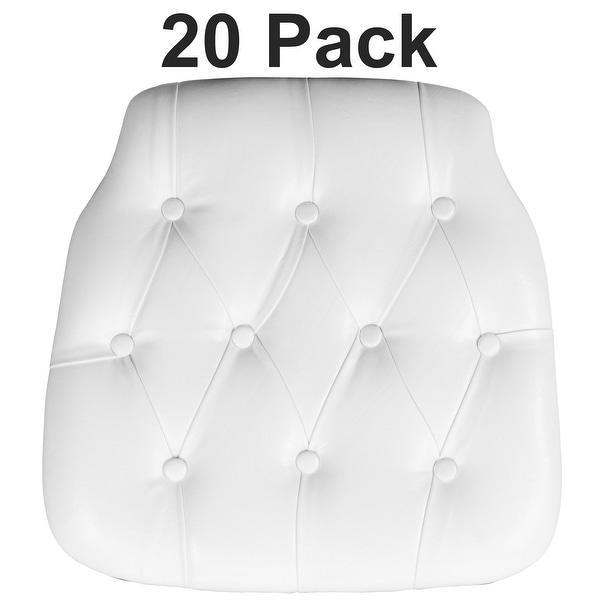 20 Pack Hard Tufted Vinyl Chiavari Chair Cushion. Opens flyout.