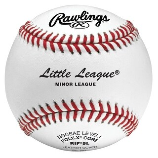 Rawlings RIF5 Level 1 Little League Baseball (Dozen) White