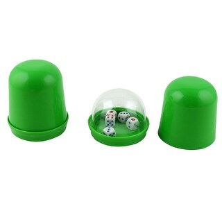Party Club KTV Plastic Guessing Gaming Tool Shaker Cup w 5 Dices 2pcs