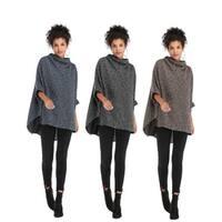 High Collar Irregular Cloak Coat