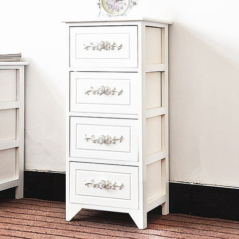 DL furniture - Fully Assembled Tone Finish Night Stand 2 Drawer Storage Shelf Organizer 100% Light Weight Basswood