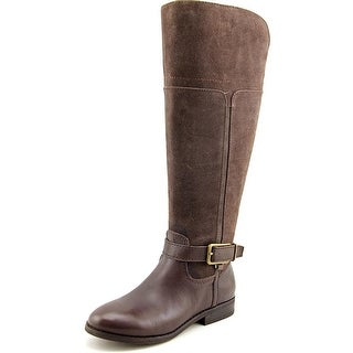 Marc Fisher Aysha Wide Calf Round Toe Suede Knee High Boot