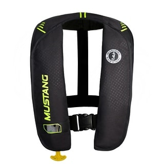 Mustang Survival Mustang Mit 100 Inflatable Pfd Automatic Black Yellow Green Md2016 02 Bk Yw