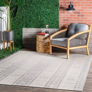 Link to nuLOOM Leigh Ethnic Stripes Indoor/Outdoor Area Rug Similar Items in Casual Rugs