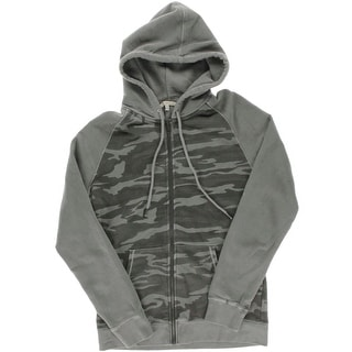 Calvin Klein Jeans Mens Camouflage French Terry Zip-Front Hoodie - M