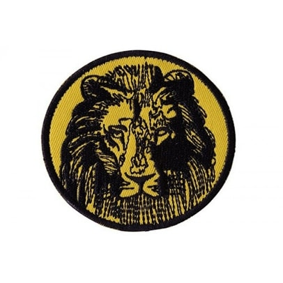 Lion Pic In Circle Embroidered Iron On Motorcycle Biker Vest Patch P17