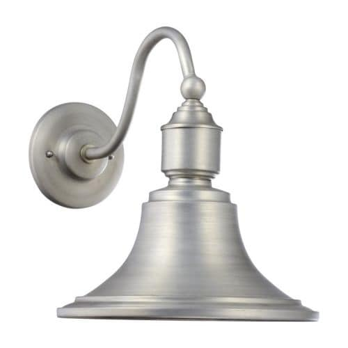 """Quorum International 760 Single Light 14"""" Tall Outdoor Wall Sconce with Barn Style Shade"""