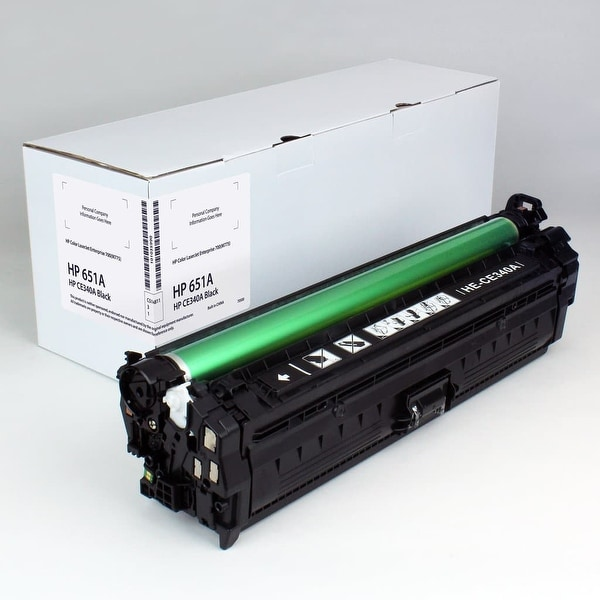 Value Brand replacement for HP 651A Black Toner CE340A (13,500 Yield)