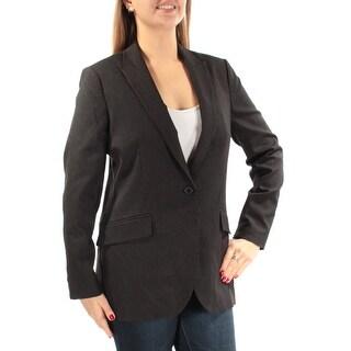 ANNE KLEIN $149 Womens New 1001 Black Pinstripe Blazer Wear To Work Jacket 6 B+B
