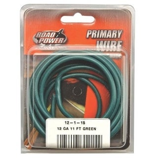 Coleman Cable 55678933 Road Power Primary Wire, 12 Gauge, 11', Green