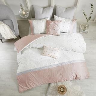 Link to Urban Habitat Jojo Blush Cotton Jacquard 7-piece Duvet Cover Set Similar Items in Comforter Sets