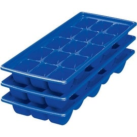 United Solutions IC0020 Stacking Ice Cube Trays, Blue, Pack of 3