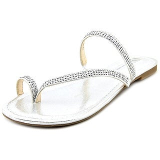 INC International Concepts Mistye 2 Women Synthetic Silver Slides Sandal