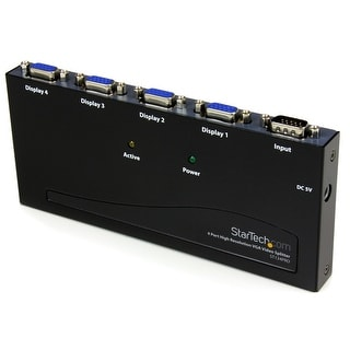 StarTech ST124PRO 4 Port High Resolution VGA Video Splitter - 350 MHz