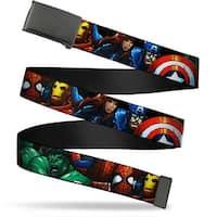 Marvel Universe Blank Black Buckle Marvel Universe Superheroes Web Belt