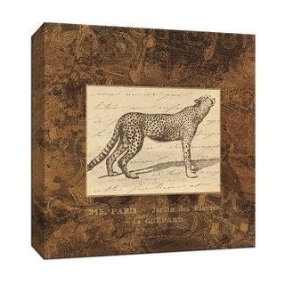 """PTM Images 9-153072  PTM Canvas Collection 12"""" x 12"""" - """"Leopard"""" Giclee Safari Animals Art Print on Canvas"""
