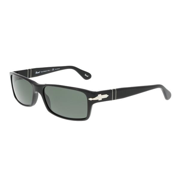 f10c4e5a25 Shop Persol PO2747S 95 48 Black Rectangle Sunglasses - 57-16-140 ...
