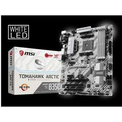 Msi Gaming Amd Ryzen B350 Ddr4 Vr Ready Hdmi Usb 3 Atx Motherboard (B350  Arctic)