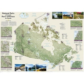 National Geographic Maps Canada National Parks Wall Map - Laminated
